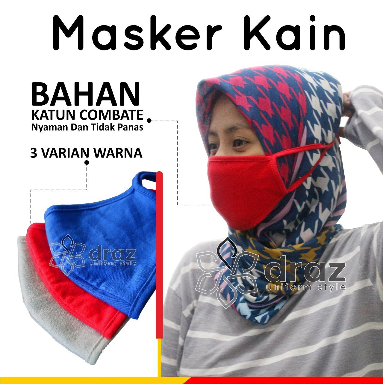 Masker Kain 3 warna